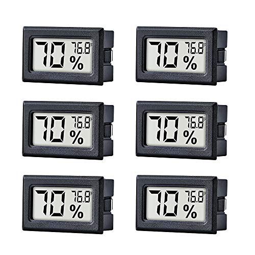 for Humidors Home Car Greenhouse(12 Pack Digital Hygrometer Indoor Outdoor Hygrometer Thermometer Newlight66 Humidity Gauge /°F