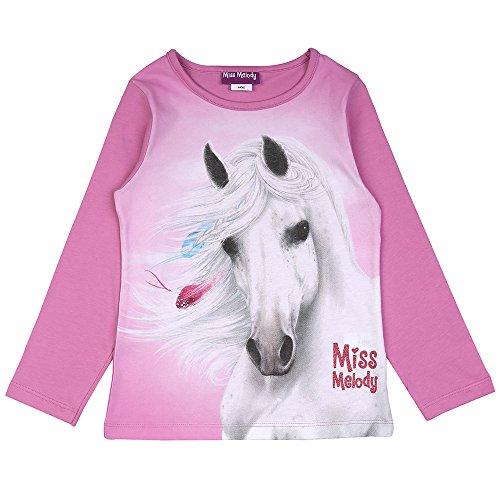 Bianco T-Shirt Miss Melody Ragazze Maglietta
