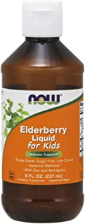 Now Supplements, Liquid Elderberry for Kids with Zinc and Astragalus, 8-Ounce