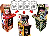 Alvatron Set of 4 Joystick 4lb Tension Springs for Arcade1up NBA JAM Tournament Edition Hang Time TMNT Teenage Mutant Ninja Turtles Burger Time Frogger Pacman Marvel Super Heroes Star Wars Pinball