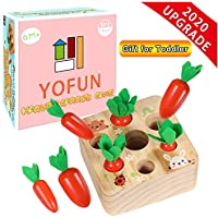 Yofun Montessori Carrot Harvest Wooden Matching Puzzle Toy