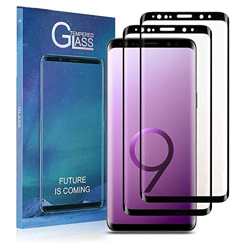 Aclouddates Samsung Galaxy S9 Panzerglas, [2 Stück] 9H Härte 3D Vollständige Abdeckung Displayschutzfolie, Anti-Kratzen, Anti-Bläschen, Fingerabdrücke 3D Kompatibel, S9 Panzerglasfolie Schutzfolie