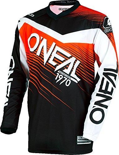 Casacca Mx Oneal 2018 Element Racewear Nero-Arancio (M , Arancio)