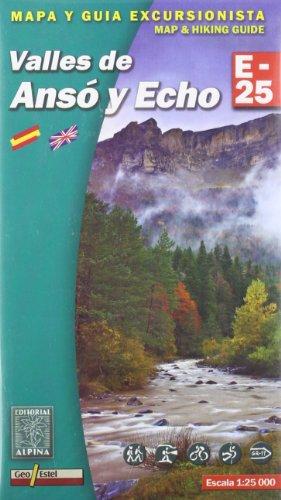 Valles de Anso y Echo, mapa excursionista. Escala 1:25.000. Alpina Editorial.