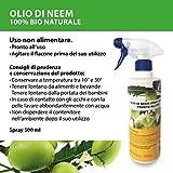 bio A.L.T Olio di neem 500 ml insetticida Repellente per Zanzare Cimici Afidi Cocciniglia Naturale per orto,Giardino 100% Uso Professionale carenza Zero