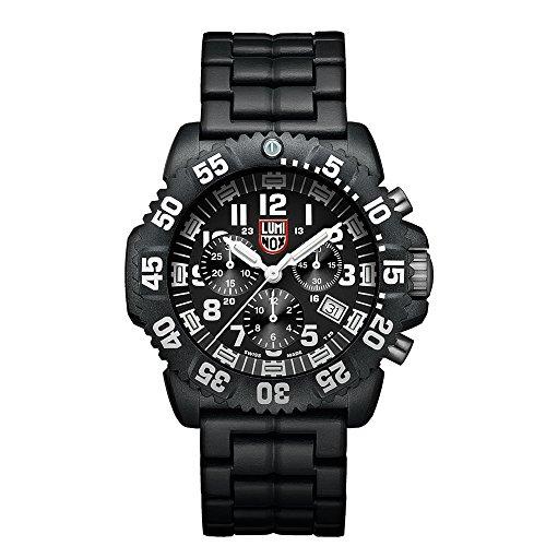 Luminox Navy SEAL Colormark Chronograph XS.3082 Reloj de Plásticolsera Cuarzo Hombre correa de Plástico Negro