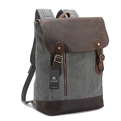 YAAGLE Verücktes Pferd Outdoor Reisetasche schick Rucksack Gepäck Herren Schultertasche Business Taschen-grau