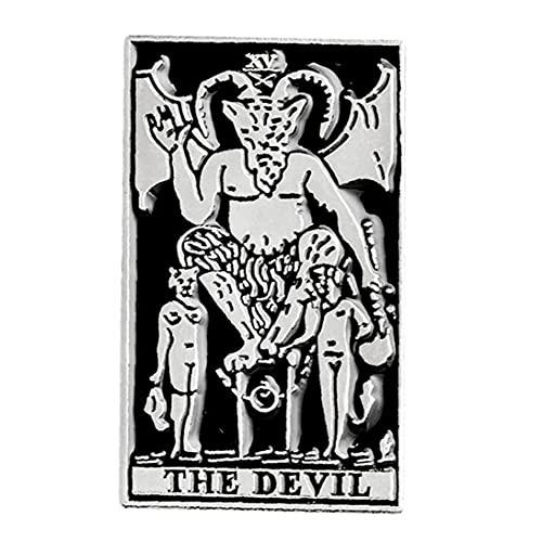 Ruluti Dark Pin Satan Satanismus Metall Punk Witch Evil Pins Halloween Skeleton Gothic Puck Brosche Schmuck Abzeichen