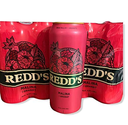 8 Dosen a 500ml vom polnischen Bier Redd's Himbeer Granatapfel Beer