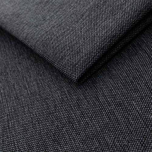 Teker Mona Polsterstoff Möbelstoff Meterware - z.B. Stoff für Stühle oder Eckbank Bezug- Grau Schwarz