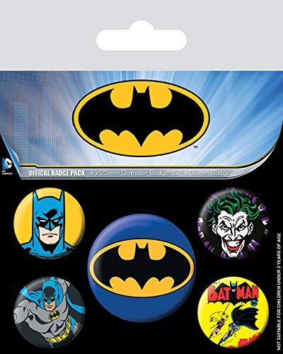 Pyramid International BP80439 Batman Pack de Badge, Plastique, Multicolore, 10 x 12,5cm