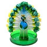 Dan&Dre Experimento de crecimiento de la novedad DIY Blooming Peacock Paper Tree Toy Niños Ciencia Juguetes Educativos Decoración de Mesa Experimental Papel Árbol Flor
