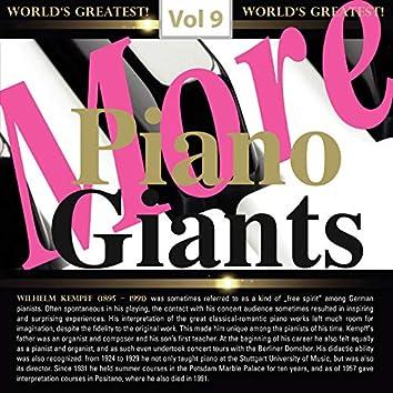 More Piano Giants: Wilhelm Kempff, Vol. 9