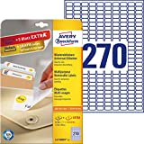 Avery White Removable Mini Label - Laser - L4730REV - Etiquetas de impresora (Color blanco, Laser, 17.8 x 10 mm)