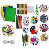 asdfwe Artes Manualidades Suministros Kit Surtido De Artesanía Artes Collage Conjunto para Los Niños Escolares Actividades Proyectos De Bricolaje