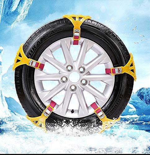 MASO 8 Stücke Schneeketten Einfach zu montieren Anti-Rutsch Reifen Schneeketten Universal für Pkw-Reifenbreite 165-285mm