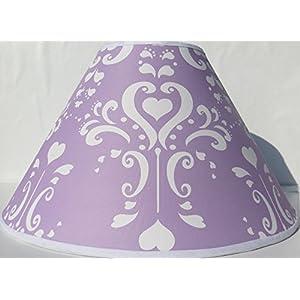 Purple Damask Lamp Shade/Childrens Lampshade Nursery Decor