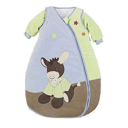 Sterntaler Schlafsack für Kleinkinder, Abnehmbare Ärmel, Wärmeregulierung, Reißverschluss, Größe: 70, Emmi, Bunt