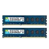 DUOMEIQI Kit de 8GB (2X 4GB) CL7 2RX8 DDR3 1066MHz DIMM PC3-8500 1.5v (240 Pin) Memoria RAM de Escritorio sin búfer sin ECC Módulo Compatible con el Sistema Intel AMD
