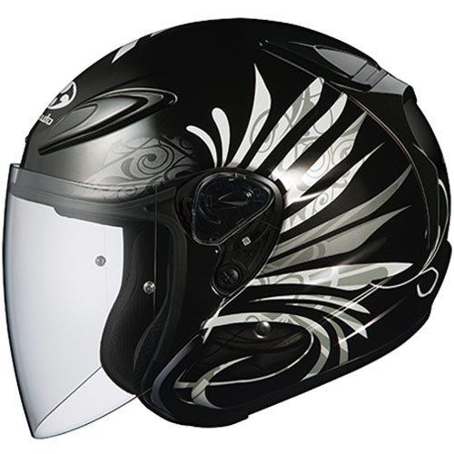 オージーケーカブト(OGK KABUTO)バイクヘルメット ジェット AVAND2 LB(エルビー) ブラックメタリック-1 (サイズ:XS) 571580