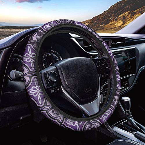 UNICEU Ethinc Style Celtic Knot Design Car Steering Wheel Cover Neoprene Automotive Steering Wheel Cover Anti Slip and Sweat Absorption Auto Car Wrap Cover