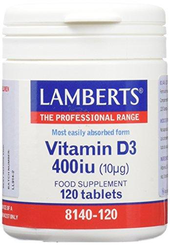 Lamberts Vitamina D 400UI - 120 Tabletas
