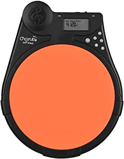 Muslady Cherub DP-950 Mute Drum Tutor Portable Digital Drum Practice Pad with 9 Preset Drum Styles 4 Training Modes Metronome Function LCD Display Adjustable Rhythm Beat Tempo