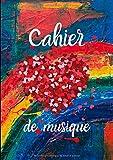 Cahier De Musique: Avec Portées|Grand Format A4| Pages Avec Lignes|120 Pages| |Page De Présentation|Couverture Art Abstrait Originale Avec Coeurs.