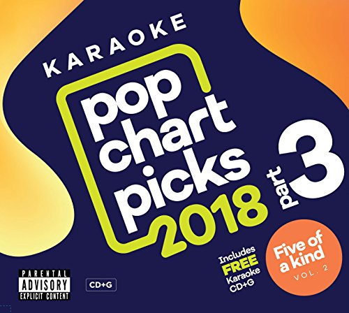 Zoom Karaoke CD+G - Pop Chart Picks 2018 (Part 3) inc. The Greatest Showman + FREE Five Of A Kind CD+G