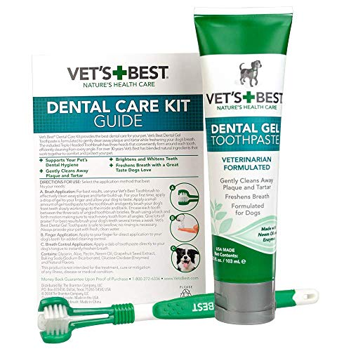 Vet's Best Dog Toothbrush and Enzymatic...