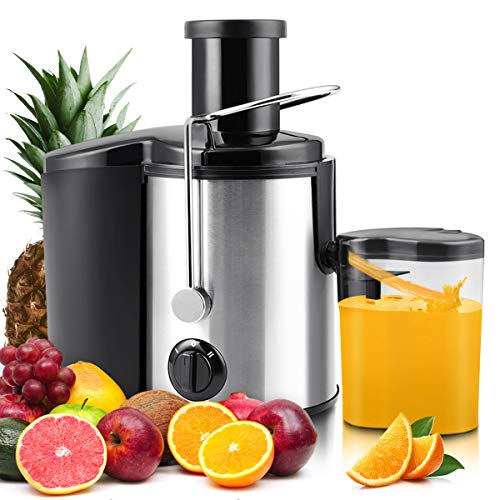 Slow Juicer Machine, Gimify Masticating Juicer Extractor Maker Stainless Steel Centrifugal Juicer Wide Mouth, Dual Speed Modes for Whole Fruits Vegetables Carrot
