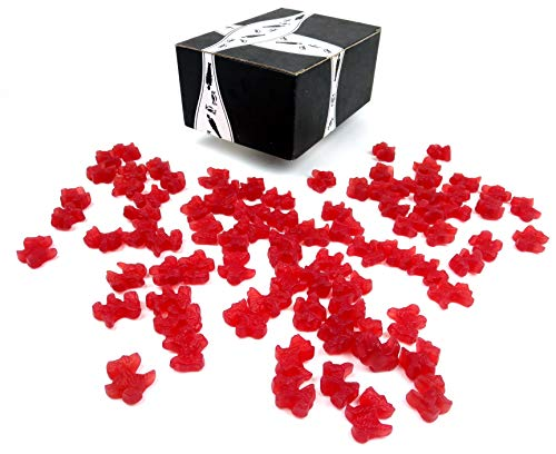 Cuckoo Luckoo Gourmet Strawberry Red Licorice Scottie Dogs, 24 oz Bag in a BlackTie Box