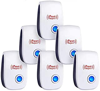 6 Pack Plug in Ultrasonic Pest Repeller, Pest Control Electrical Mosquito Repellent, Non-Toxic Pest Repellent Indoor Outdoor Pest Control Bug Spider Ant Mice Roach Other Insect