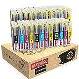 Matsuro Original | Compatible Cartuchos de Tinta Reemplazo para Brother LC1100 LC985 (6 Sets)