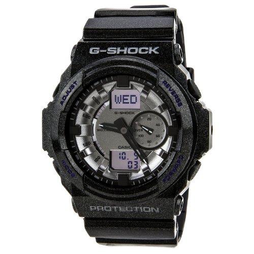 Casio GA150MF-8A Men's G-Shock Silver Metallic Ana-Digi Dial Shock Resistant Black Resin Dive Watch
