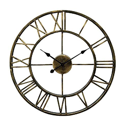 CHEBEND Chebendmodern Silent No Tick In The Living Roomproduct Creative Wall Clock Living Room Cafe Bar Round Hollow Wrought Iron Wall Clock