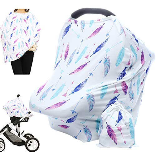 Best Buy! Hicoco Nursing Cover Carseat Canopy - Baby Breastfeeding Cover, Car Seat Covers for Babies...