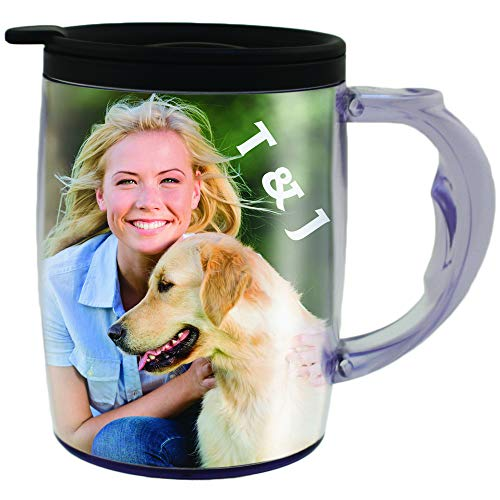 PixMug with Handle - Photo Mug – The Mug That's A Picture Frame - DIY - Insert your own photos...