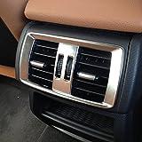 DIYUCAR - Adhesivo para marco de ventilación de salida de aire acondicionado trasero de coche para X3 F25 X4 F26 2011-2015