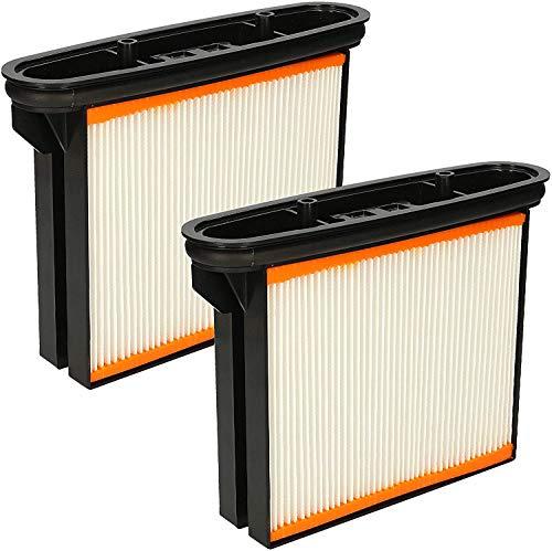 Wessper 2er Pack Ersatzfilter Feinstaubfilter Faltenkassette Faltenfilter Nassfilter - Passend für Bosch Gas 25, 50, 50M Nass/Trockensauger
