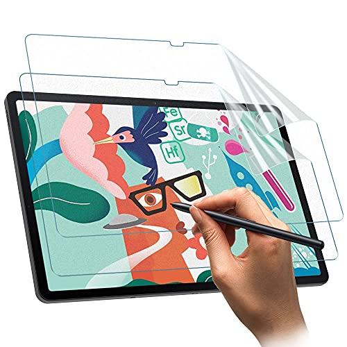 TiMOVO 2 Piezas Protector de Pantalla Compatible con Galaxy Tab S7 FE 2021 12.4 / Galaxy Tab S7 Plus, Pet Película de Pantalla Antideslumbrante y Antiarañazos para Escribir y Dibujar, Azul Claro