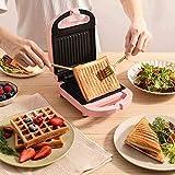 WSJTT toastie Maker Tostadora para sándwiches, Parrilla para Acampar al Aire Libre, Tostadas para Utensilios de Cocina para Acampar (Tama?o: Style3) (Color : Pink)