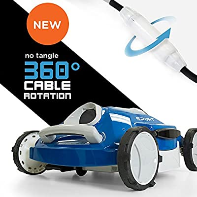 Aquabot Spirit Above and Inground Robotic Pool Cleaner with Anti-Tangle 360° Swivel