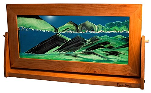 Exotic Sands XL22 AS SEEN ON TV Colored Sandscapes - X Large Cherry Frame (Summer Turquoise) Beautiful New Pictures with Each Turn Never Creates The Same Scene. Quality! Shifting - Sifting Sands.