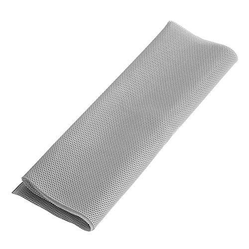 1,4 mx 0,5 m Stoff Staubdicht Schutztuch Abdeckung Stereo Audio Lautsprecher Mesh Grill Tuch Grau