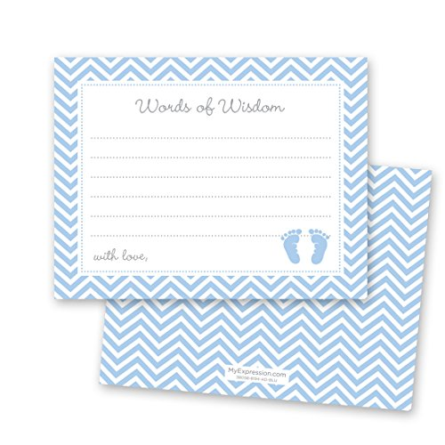 MyExpression.com 48 Cnt Blue Baby Feet Footprint Advice Cards