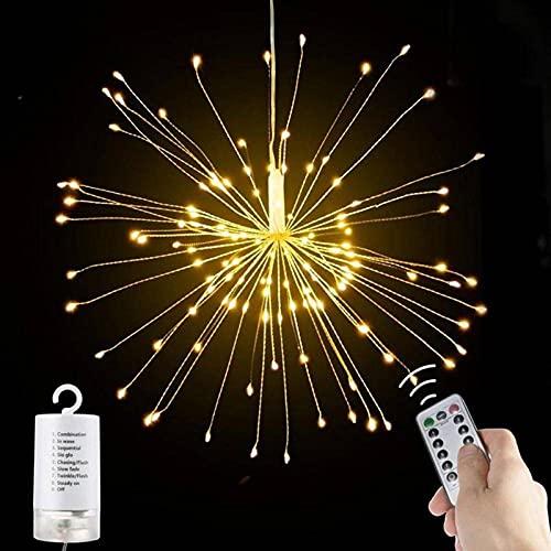 N\C Luz de Fuegos Artificiales LED Solar al Aire Libre 100/120/150/180 LED Luces de Cadena Impermeables Luces de Hadas, jardín, terraza, Macizo de Flores, Fiesta, decoración de la Calle de Navidad