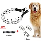 Dog Prong Collar, Stainless Steel Dog Chole Pinch Training Collar with Quick Release