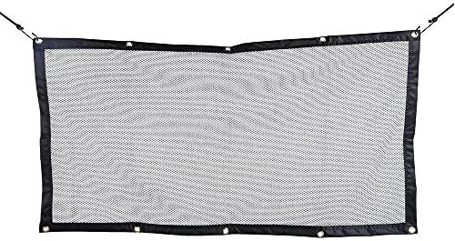 Coche Protección para mascotas Net Seguridad Cerca de seguridad Seguridad de automóviles Net / Malla Perro Barrera 120 cm * 70 cm Divisor de coche Net para todo tipo de asiento delantero del coch