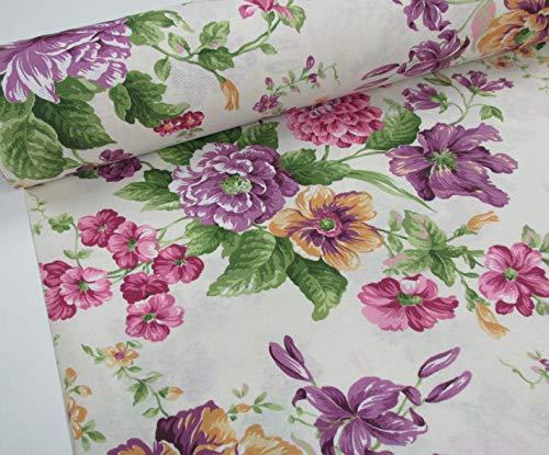 cortinas estampadas con flores